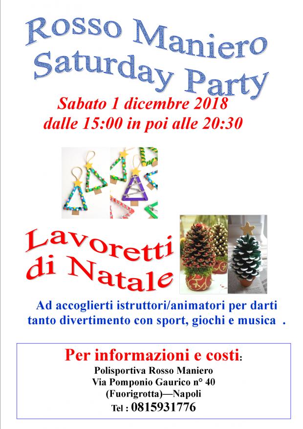 volantino Saturday party lavoretti di natale A3